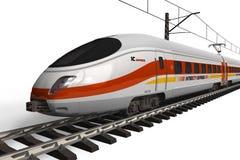 prędkość wysoki nowożytny pociąg Zdjęcie Royalty Free