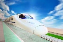 prędkość wysoki pociąg fotografia royalty free