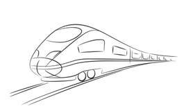 prędkość wysoki pociąg ilustracji