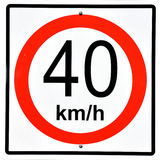Prędkość znak Zdjęcia Stock