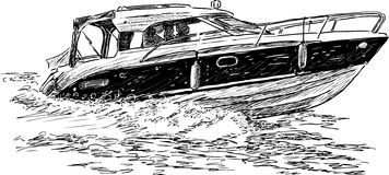 Prędkości łódź Fotografia Stock