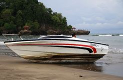 Prędkości łódź na Anyer obraz stock