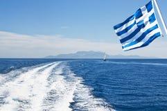 Prędkości łodzi ślada Zdjęcia Stock