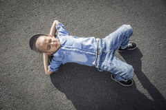 Prędkości łyżwiarki chłopiec Obraz Royalty Free
