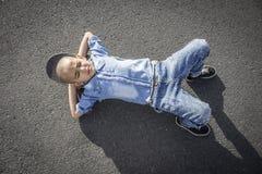 Prędkości łyżwiarki chłopiec Zdjęcie Stock