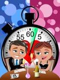Prędkości datowanie pojęcie - miłość ilustracja wektor
