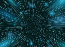 Prędkości gwiazdy w astronautycznego wektoru tle Gwiazd światła przy nocne niebo akci tapetą Fotografia Stock