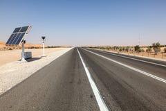 Prędkości kontrola kamera na autostradzie Obrazy Royalty Free