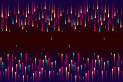 Prędkości linie, Neonowego światła cząsteczek lampasów wzoru projekt fotografia stock