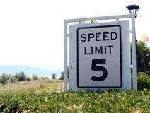 Prędkości ograniczenia 5 znak Zdjęcie Stock