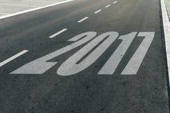 2017 prędkości ograniczenia znak na autostradzie Zdjęcia Royalty Free