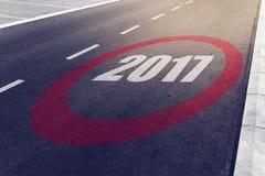 2017 prędkości ograniczenia znak na autostradzie Obrazy Royalty Free