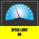 Prędkości ograniczenia znak wektorowy używa dla transportu ilustracji