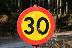 Prędkości ograniczenie 30. Fotografia Royalty Free