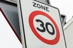 Prędkości ograniczenie Obraz Stock