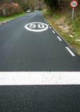 Prędkości ograniczenie 50 km, nasz II/ Obraz Royalty Free
