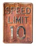 Prędkości ograniczenie 10 mph Fotografia Royalty Free