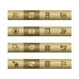 prętowa brązowa budynku ikon sieć Zdjęcie Stock