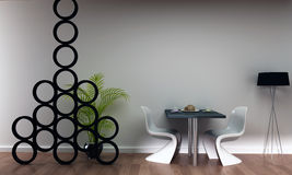 prętowa kawowa wewnętrzna restauracyjna scena Obrazy Stock