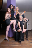 prętowa piękna cztery dziewczyny Obraz Stock