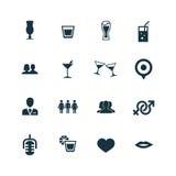 Prętowe ikony ustawiać Obrazy Royalty Free