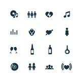 Prętowe ikony ustawiać Obrazy Stock