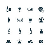 Prętowe ikony ustawiać Zdjęcia Stock