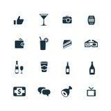 Prętowe ikony ustawiać Obraz Royalty Free