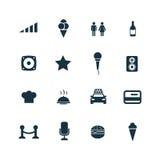 Prętowe ikony ustawiać Fotografia Royalty Free