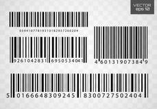 Prętowego kodu ikony wektoru ilustracja ilustracja wektor