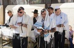 Prętowego Mitzvah rytuał przy Wy ścianą Zdjęcie Stock
