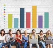 Prętowej mapy wykresu marketingu zysku ulepszenia sprzedaży pojęcie Obraz Royalty Free