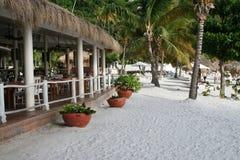 prętowej plaży restauraci strona Zdjęcie Royalty Free
