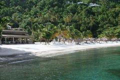 prętowej plaży restauraci strona Fotografia Royalty Free