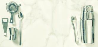 Prętowy akcesoria koktajlu robić Potrząsacz osadzarki rocznik obraz royalty free