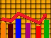 Prętowy graph Fotografia Stock