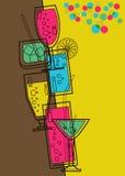 prętowy karciany menu Fotografia Stock