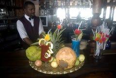 prętowy koktajlu kamienia Tanzania miasteczko Zanzibar zdjęcia stock