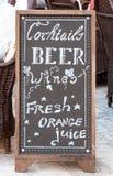 Prętowy menu Fotografia Stock
