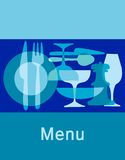 prętowy meny restauracyjny szablon Obrazy Stock