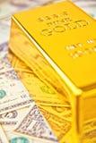 prętowy złoto Fotografia Royalty Free