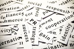 PR.词的概念关系与事务 免版税库存图片