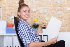 PR department employee at work Stock Image
