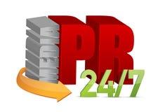 PR di media, concetto di pubbliche relazioni Fotografia Stock