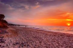 Pôr-do-sol. Foto de Stock