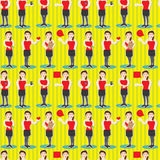 PR Girl Job Seamless Pattern_eps Stock Photos