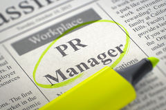 PR-Manager Hiring Now 3d vector illustratie