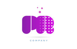 pr p r pink dots letter logo alphabet icon Royalty Free Stock Image
