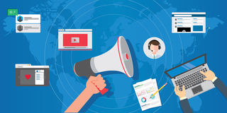 Pr public relations concept Royalty Free Stock Photography
