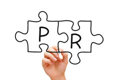 PR Puzzle Concept Royalty Free Stock Images